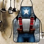 Avental Divertido E Personalizado: Capitão América