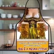 Avental Divertido E Personalizado: Mulher Cerveja