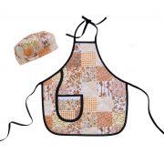 Avental Infantil Com Chapéu De Cozinheiro Patchwork