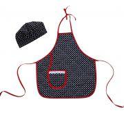 Avental Infantil Com Chapéu De Cozinheiro Poá