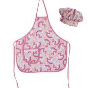Avental Infantil Com Chapéu De Cozinheiro Unicórnio Rosa
