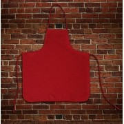 Avental Liso Oxford Vermelho - Tamanho Grande