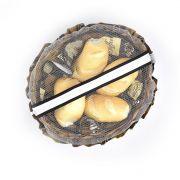 Cesta Porta Pão de Tecido Com Zíper