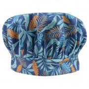 Chapéu Touca de Cozinheiro Azul Tropical
