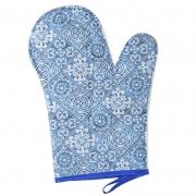 Luva De Cozinha Térmica: Azul Azulejo