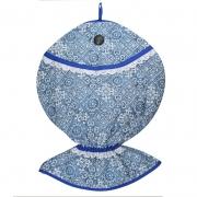 Puxa Saco Estampado Peixe® Azul Azulejo