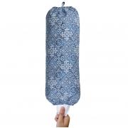Puxa Saco Simples Marrom Azul Azulejo