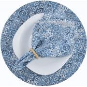 Sousplat E Guardanapo De Boca Azul Azulejo
