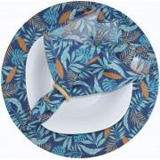 Sousplat E Guardanapo De Boca Azul tropical