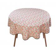 Toalha Para Mesa Redonda Floral 4 Cadeiras 1,50m De Diâmetro
