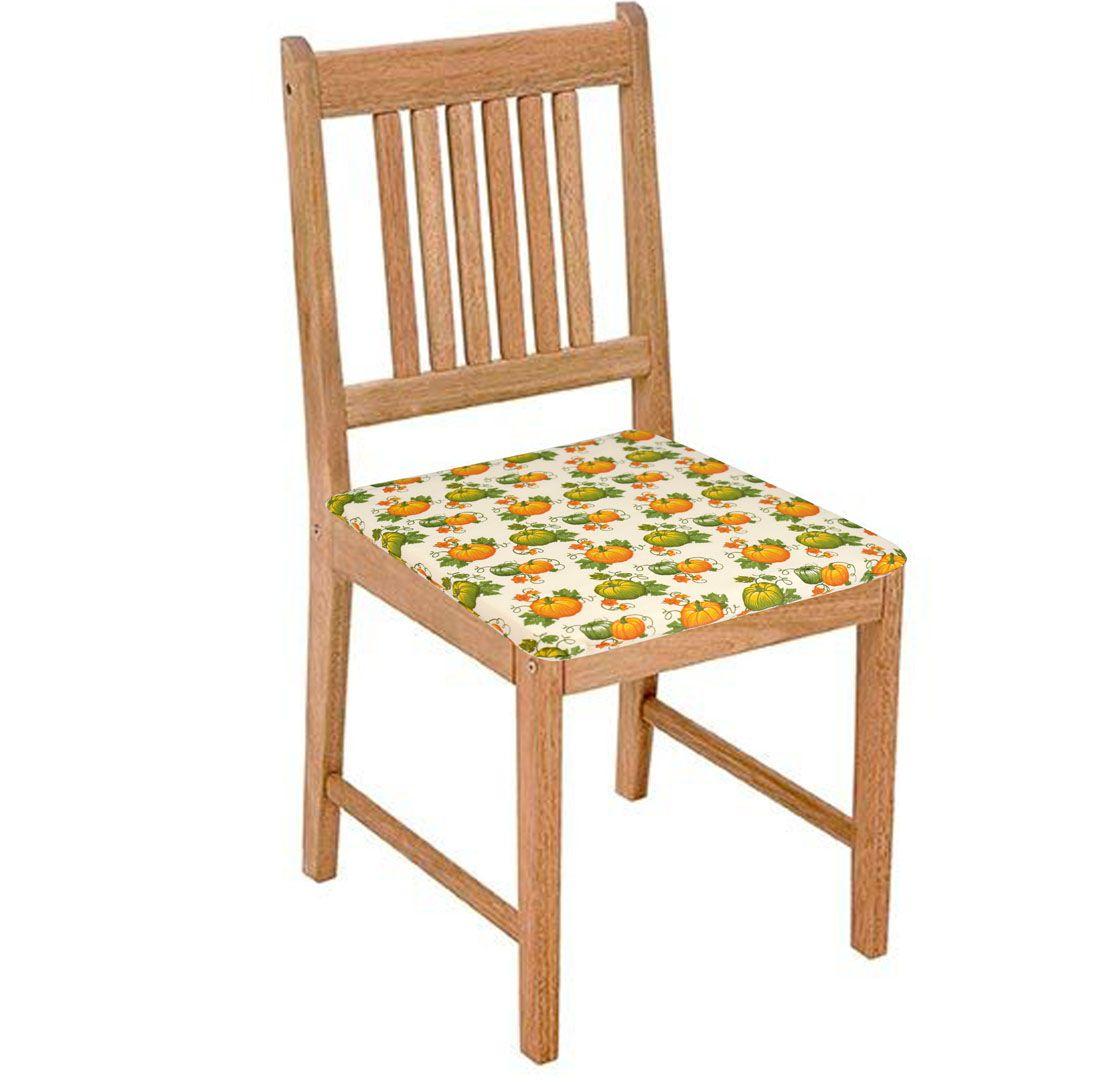 Assento De Cadeira 2 Unidades Abóbora  - RECANTO DA COSTURA