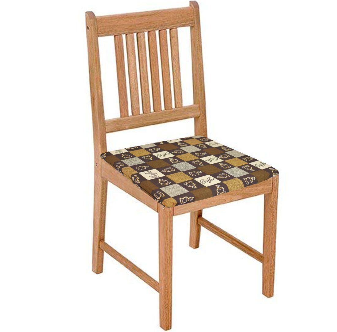 Assento De Cadeira 2 Unidades Café  - RECANTO DA COSTURA