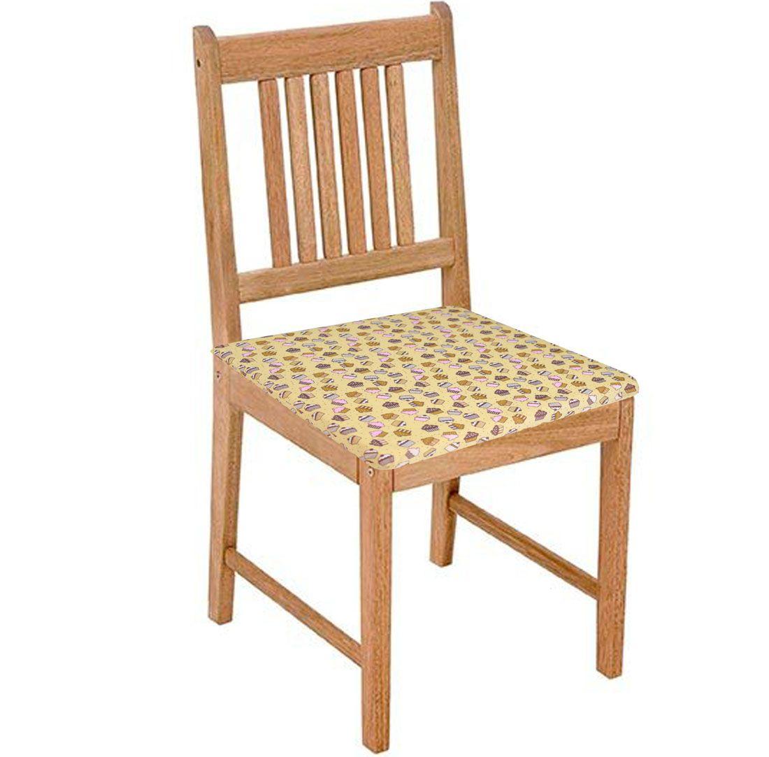 Assento De Cadeira 2 Unidades Cupcake  - RECANTO DA COSTURA
