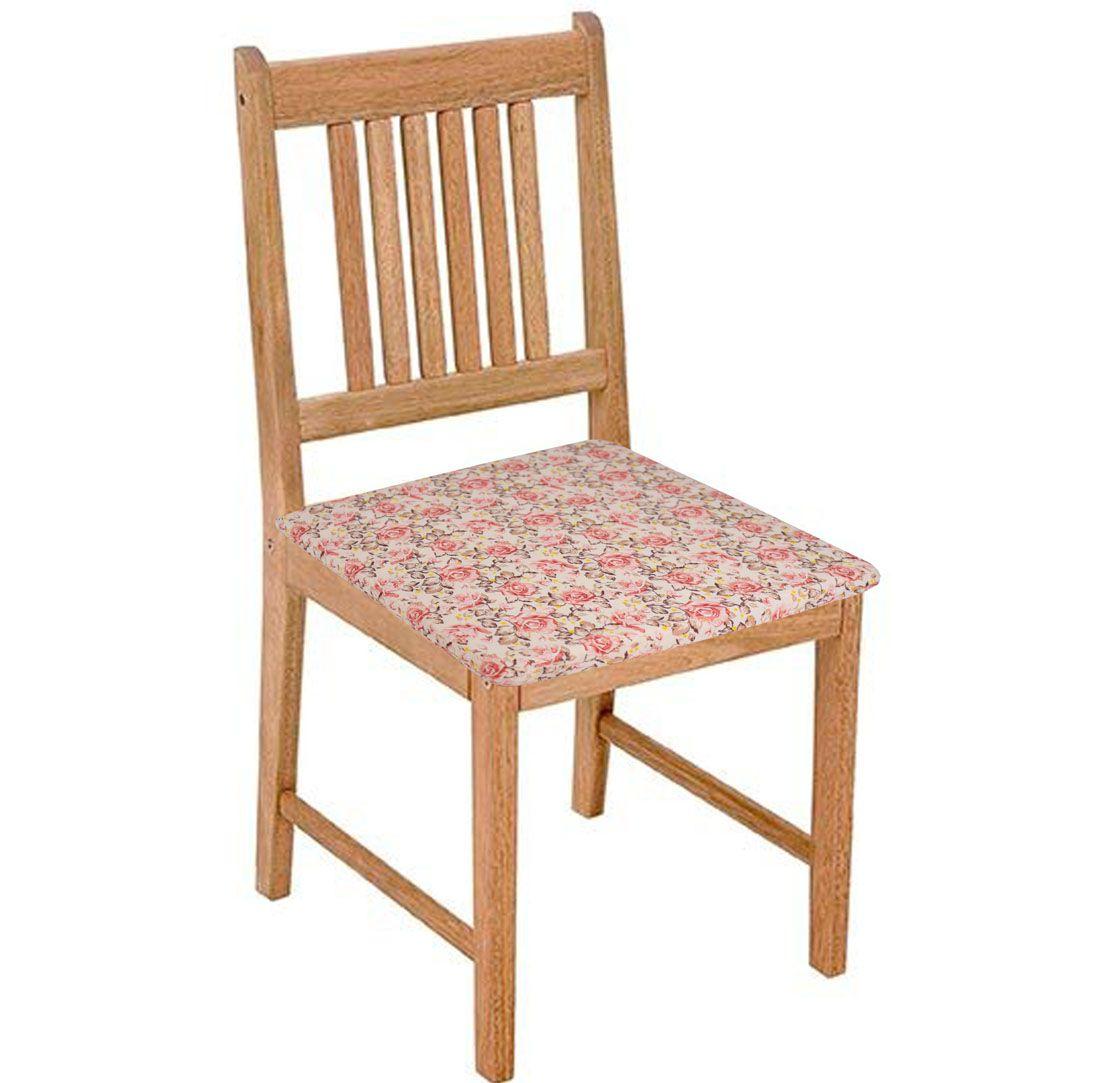 Assento De Cadeira 2 Unidades Floral  - RECANTO DA COSTURA