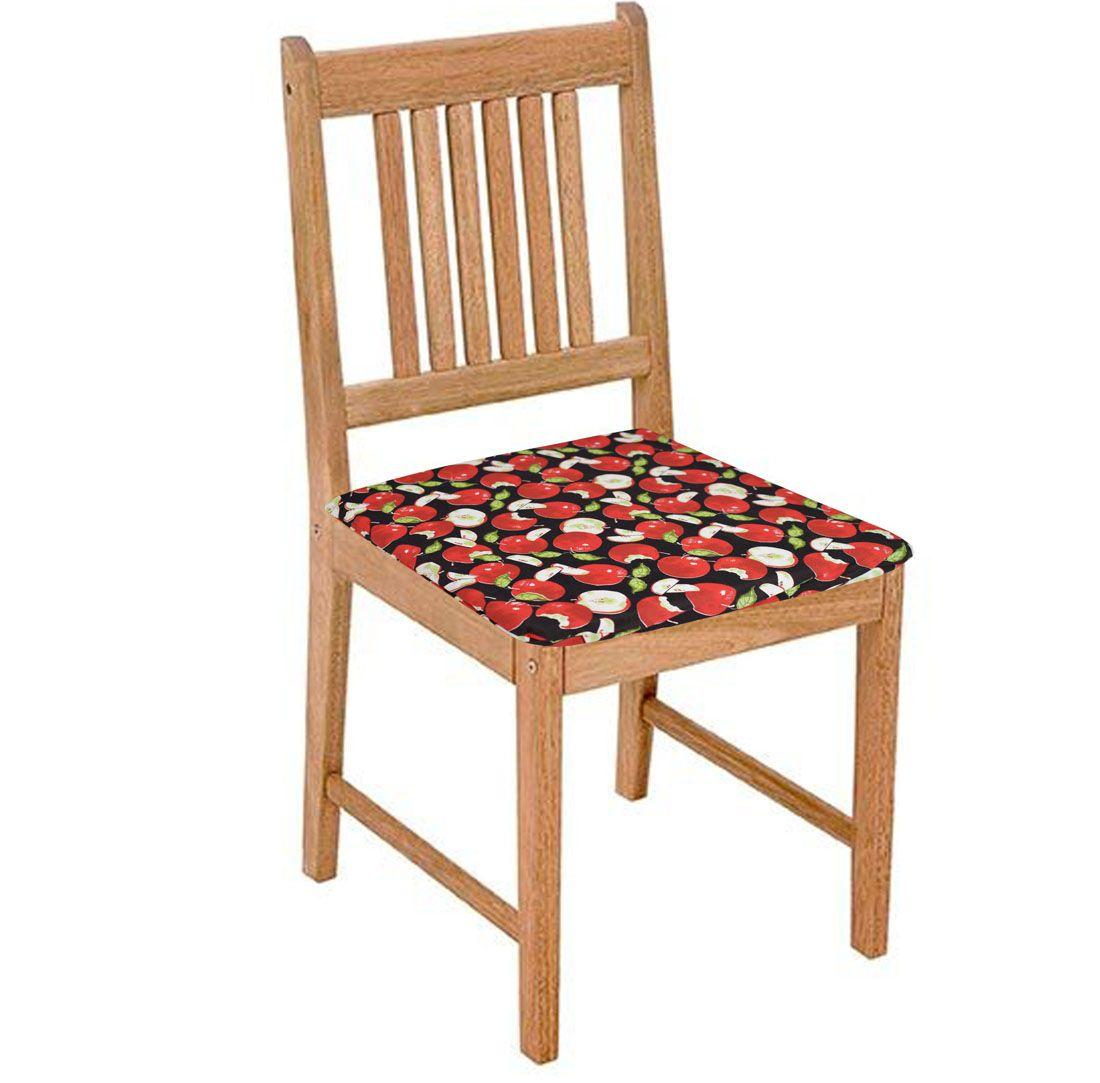 Assento De Cadeira 2 Unidades Maçã  - RECANTO DA COSTURA