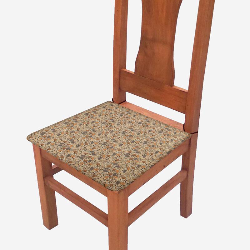 Assento De Cadeira 2 Unidades Marrom Outono  - RECANTO DA COSTURA