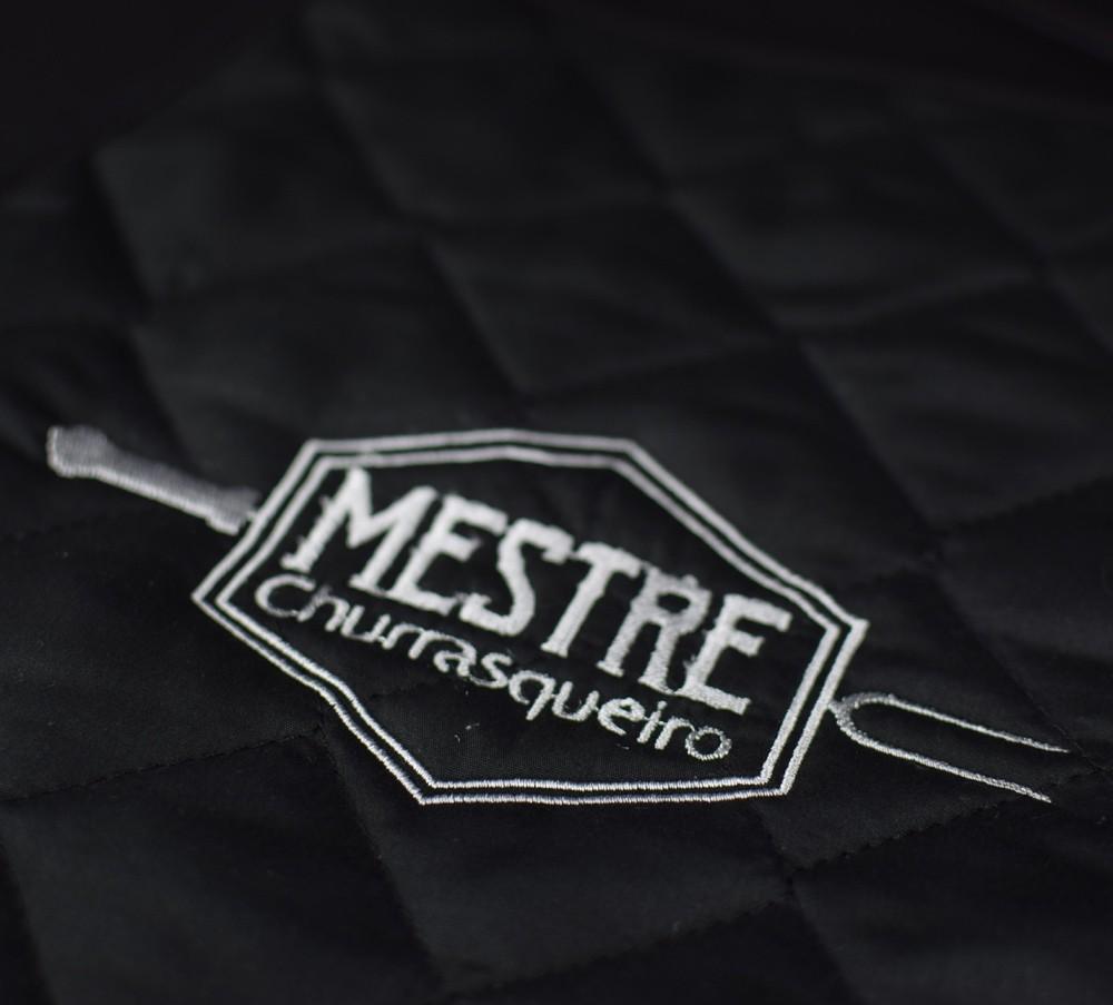 Avental Churrasco Mestre Churrasqueiro Grande Preto  - RECANTO DA COSTURA