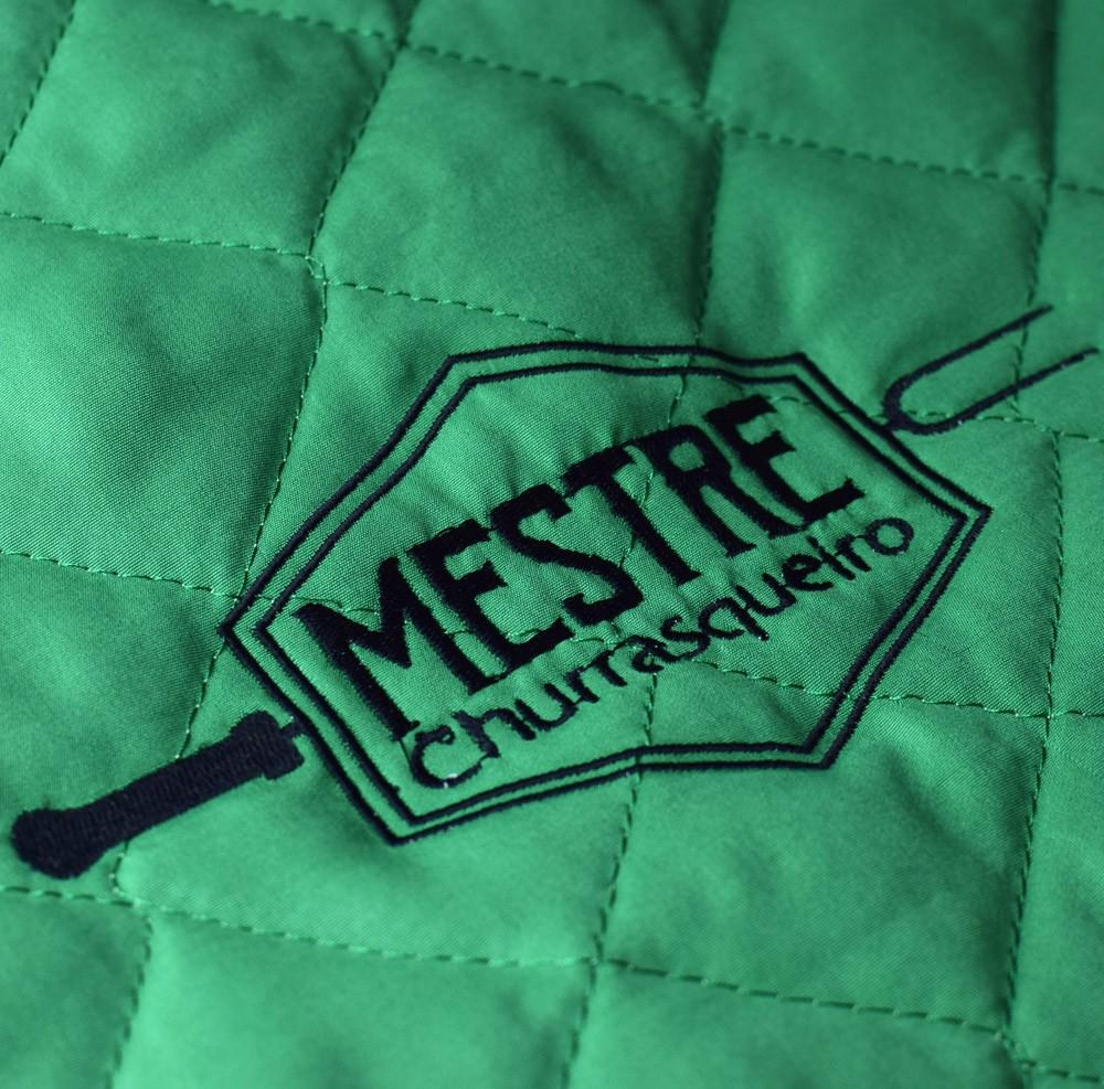 Avental Churrasco Mestre Churrasqueiro Grande Verde  - RECANTO DA COSTURA