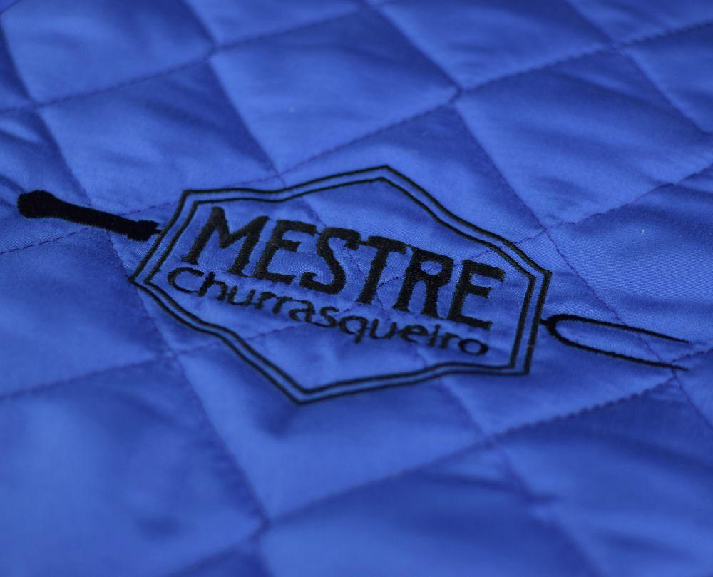 Avental de Churrasco Mestre Churrasqueiro  Azul  - RECANTO DA COSTURA