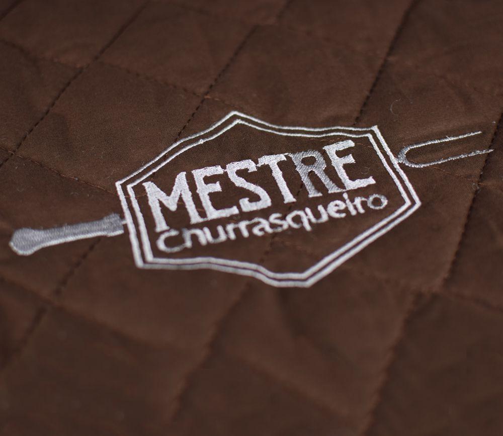 Avental de Churrasco Mestre Churrasqueiro Marrom  - RECANTO DA COSTURA