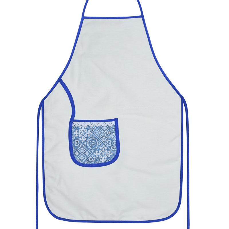 Avental De Cozinha Dupla Face Azulejo  - RECANTO DA COSTURA