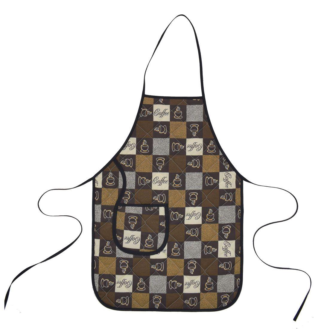 Avental De Cozinha Dupla Face Café  - RECANTO DA COSTURA