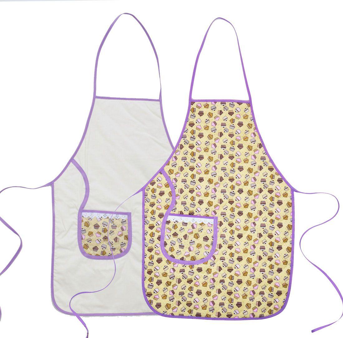 Avental De Cozinha Dupla Face Cupcake  - RECANTO DA COSTURA