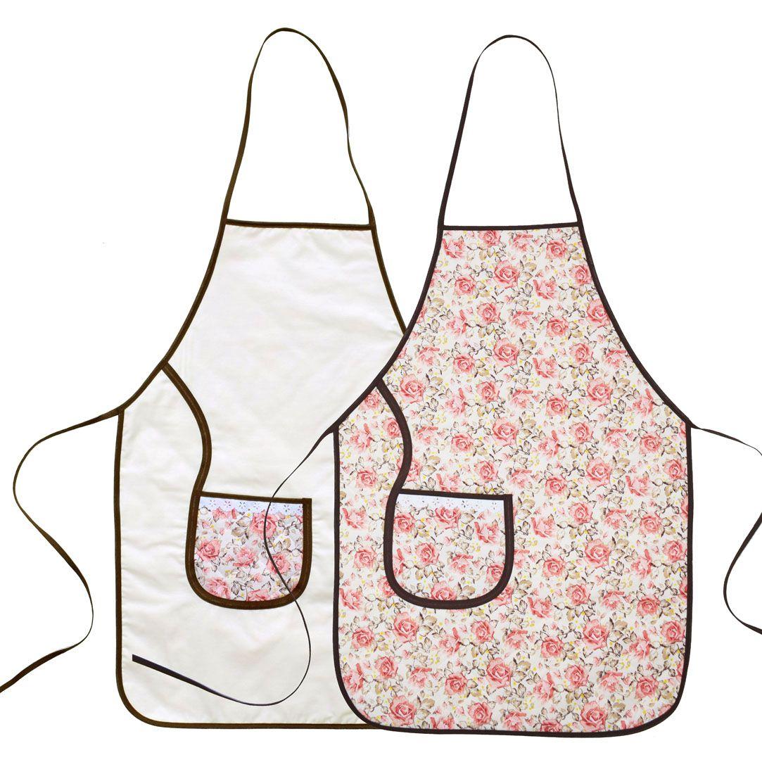 Avental De Cozinha Dupla Face Floral  - RECANTO DA COSTURA