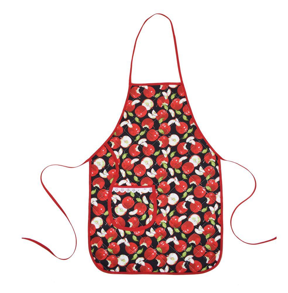 Avental De Cozinha Forro Tecido Maçã  - RECANTO DA COSTURA