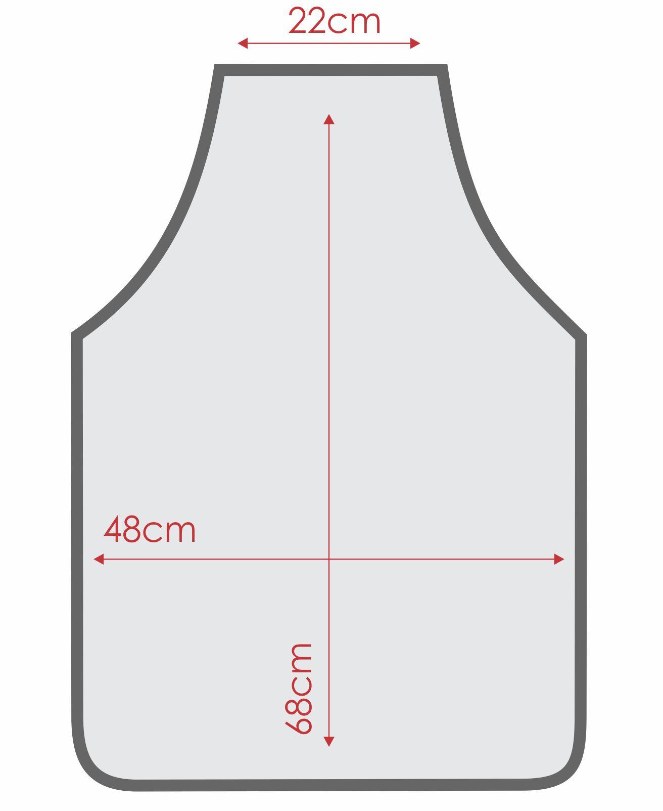 Avental  De Cozinha Liso com Touca de Oxford  - RECANTO DA COSTURA