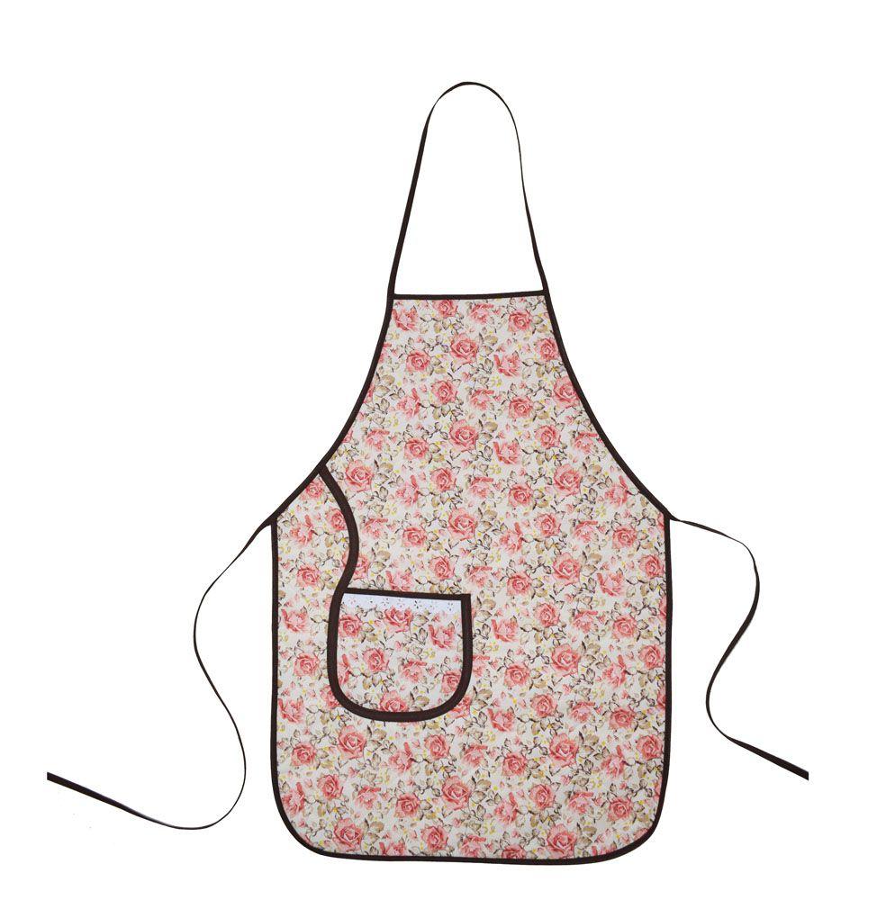 Avental De Cozinha Plastificado Floral  - RECANTO DA COSTURA
