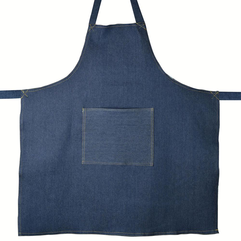 Avental de Cozinha Restaurante Jeans Azul  - RECANTO DA COSTURA