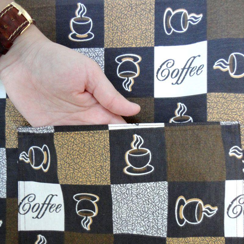 Avental De Garçom Café Modelo Unissex  - RECANTO DA COSTURA