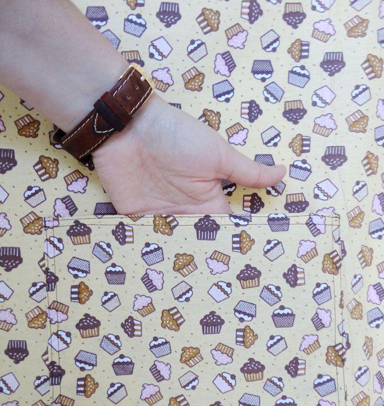 Avental De Garçom Cupcake Modelo Unissex  - RECANTO DA COSTURA
