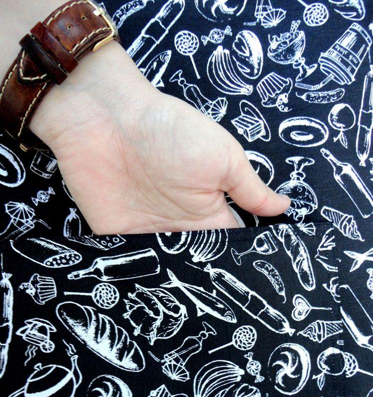 Avental De Garçom Preto E Branco Modelo Unissex  - RECANTO DA COSTURA