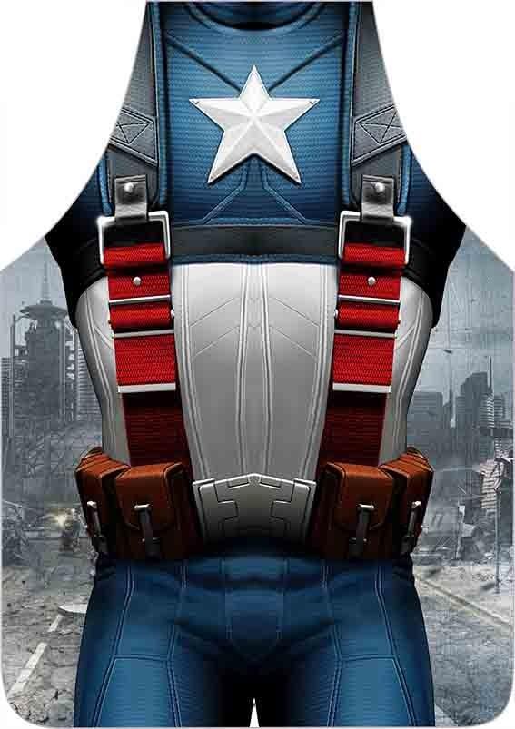 Avental Divertido E Personalizado: Capitão América  - RECANTO DA COSTURA