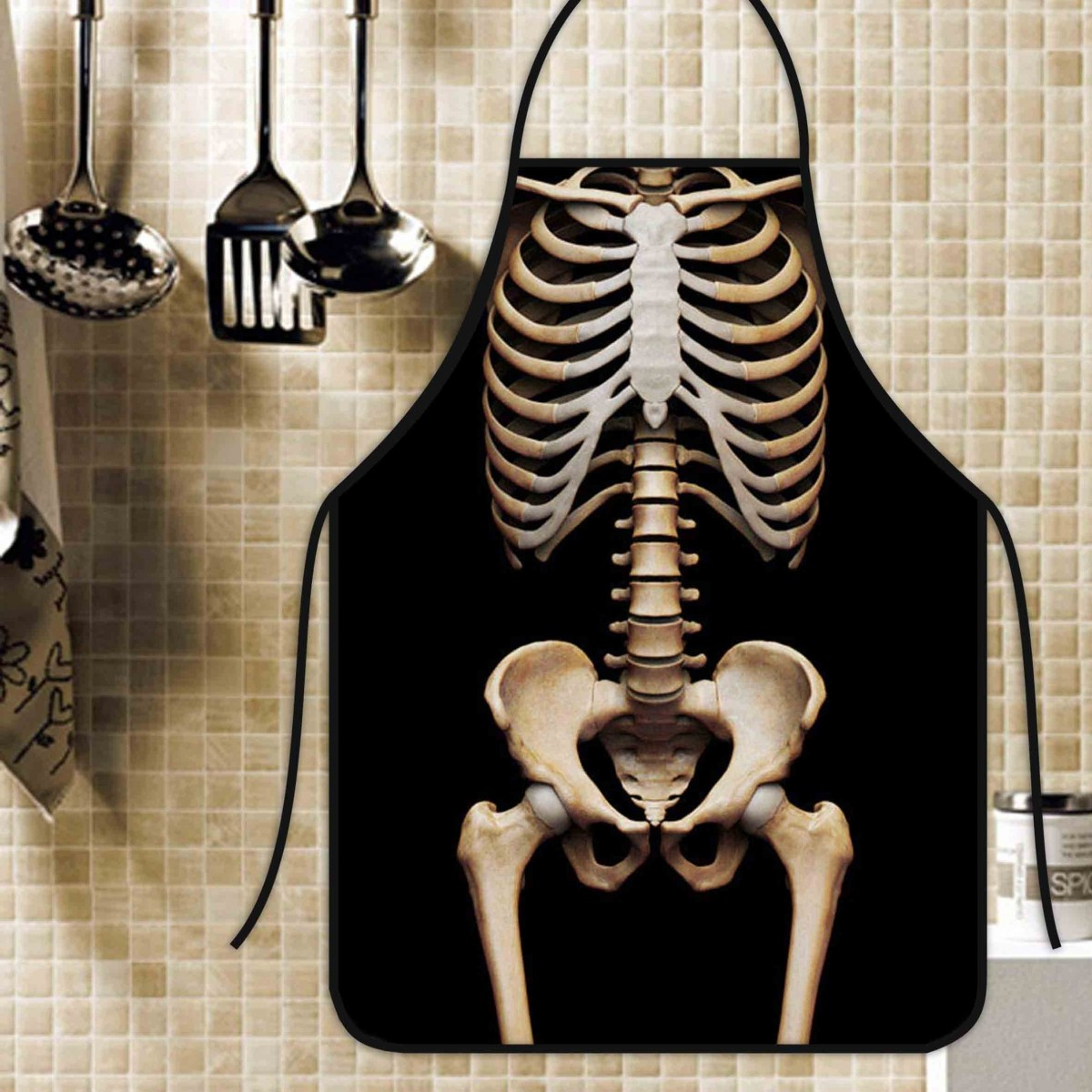 Avental Divertido E Personalizado: Esqueleto  - RECANTO DA COSTURA