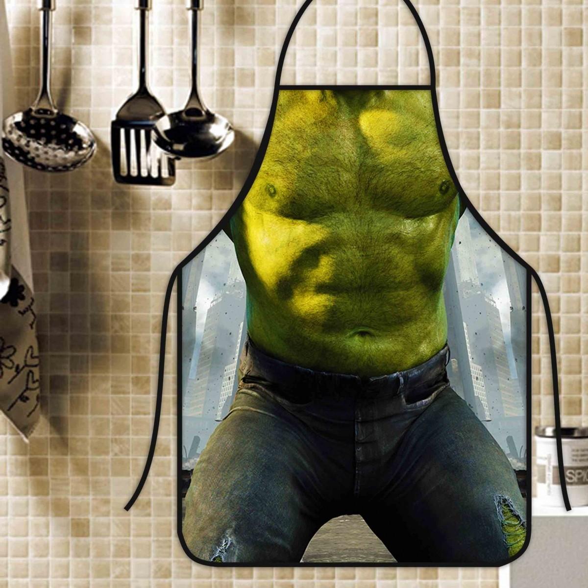 Avental Divertido E Personalizado: Hulk  - RECANTO DA COSTURA
