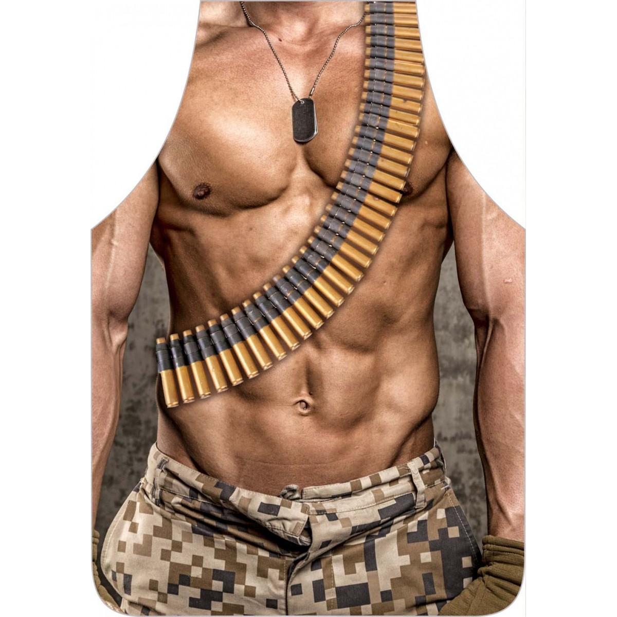 Avental Divertido E Personalizado: Militar  - RECANTO DA COSTURA