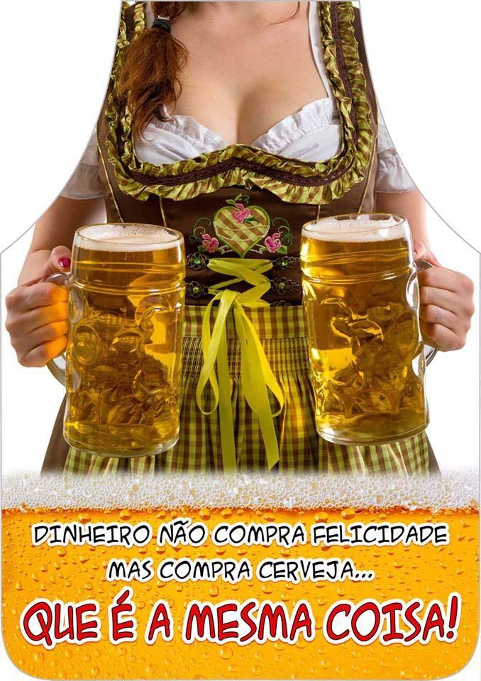 Avental Divertido E Personalizado: Mulher Cerveja  - RECANTO DA COSTURA