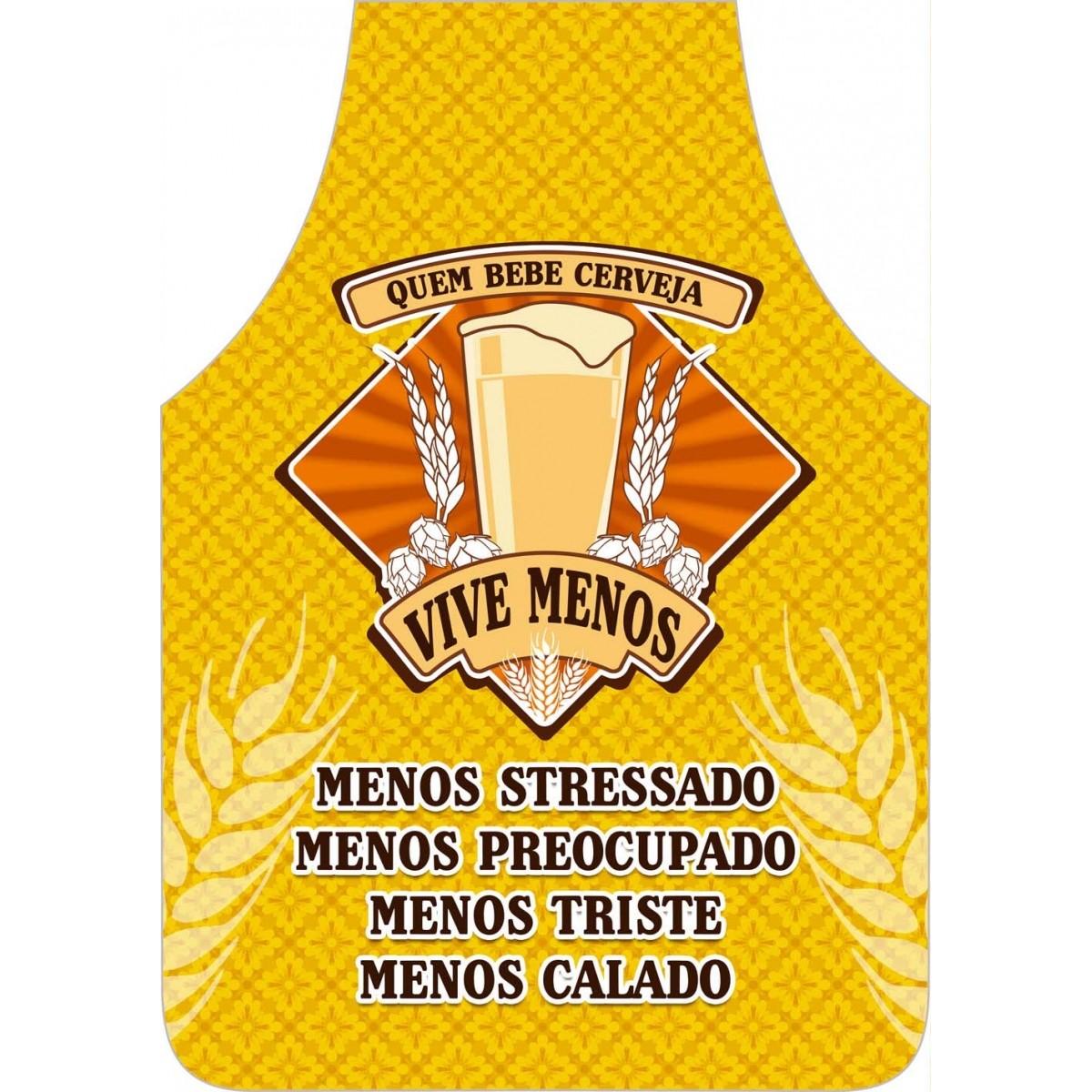 Avental Divertido E Personalizado: Quem Bebe Vive Menos  - RECANTO DA COSTURA