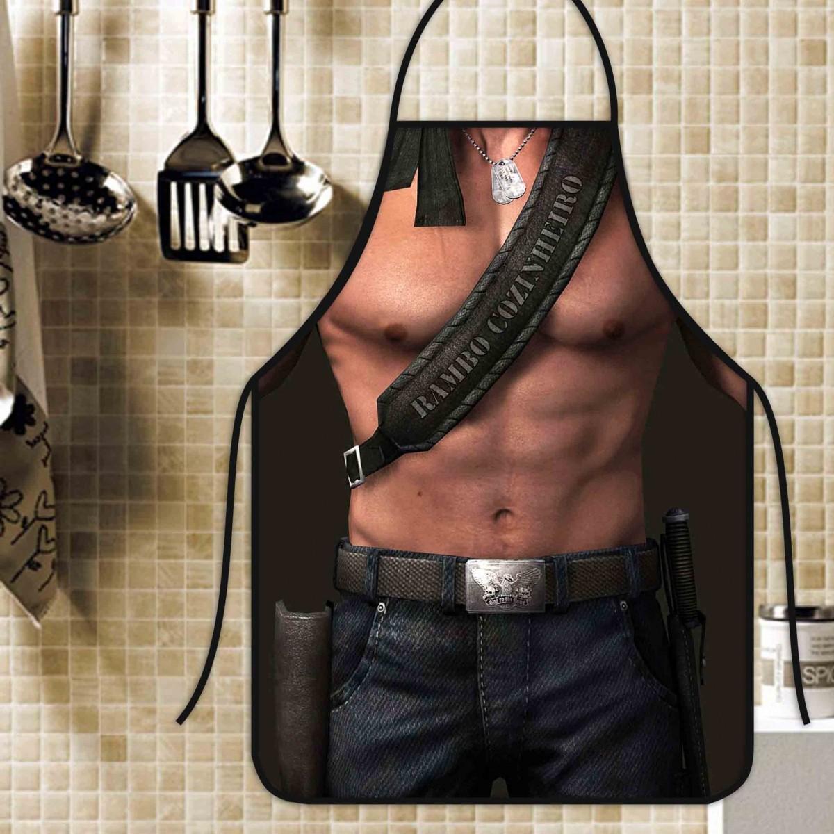 Avental Divertido E Personalizado: Rambo  - RECANTO DA COSTURA