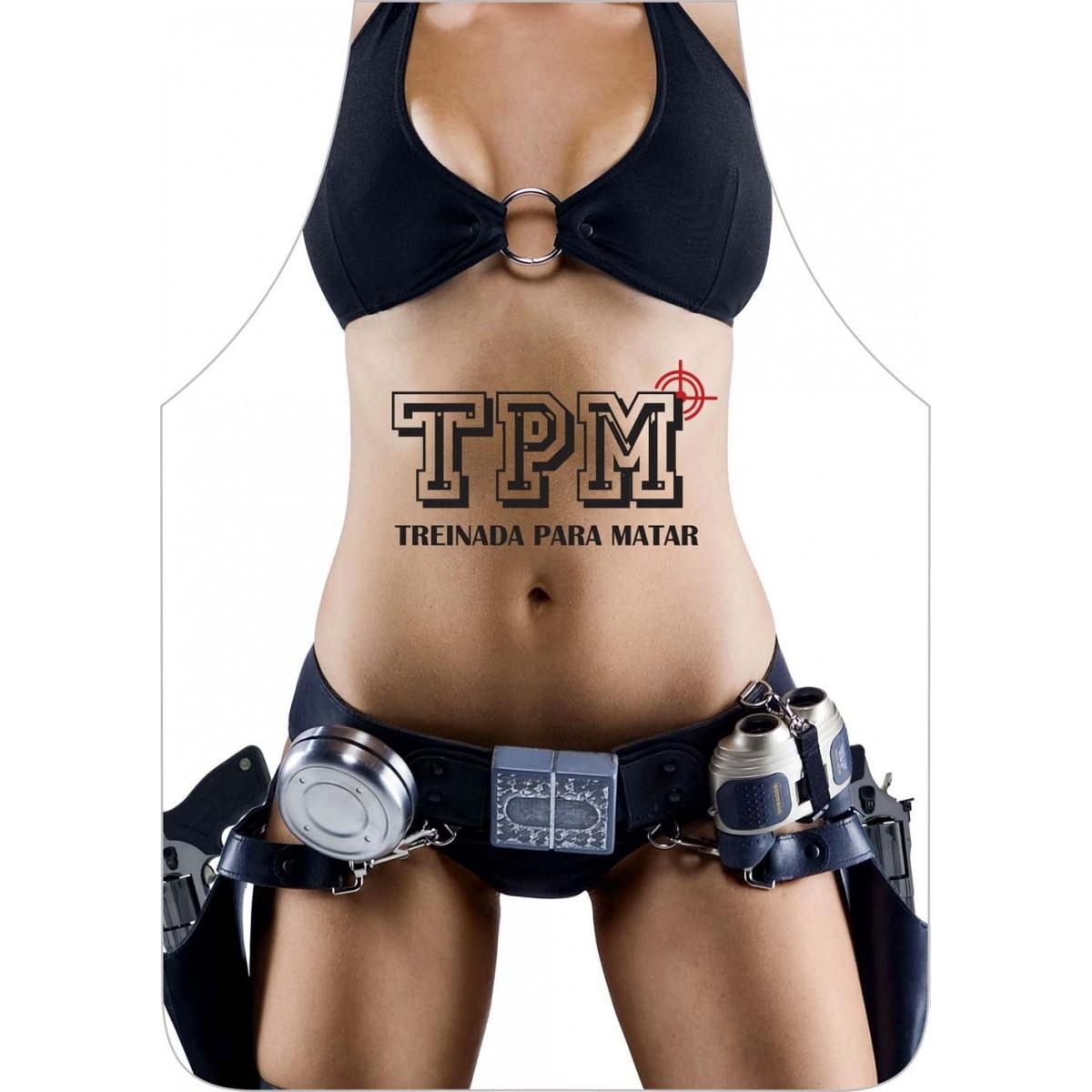 Avental Divertido E Personalizado: Tpm  - RECANTO DA COSTURA