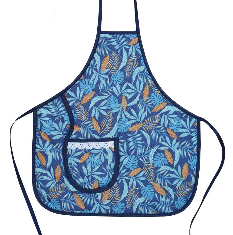 Avental Infantil Azul Tropical Blue  - RECANTO DA COSTURA