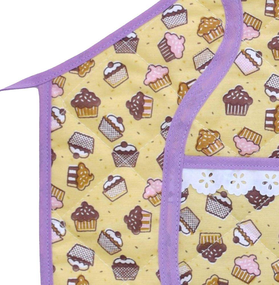 Avental Infantil Cupcake  - RECANTO DA COSTURA