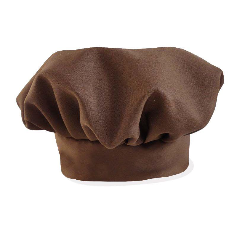 Avental Liso De Oxford Com Chapéu De Cozinheiro Marrom  - RECANTO DA COSTURA