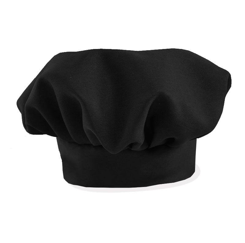 Avental Liso De Oxford Com Chapéu De Cozinheiro Preto  - RECANTO DA COSTURA