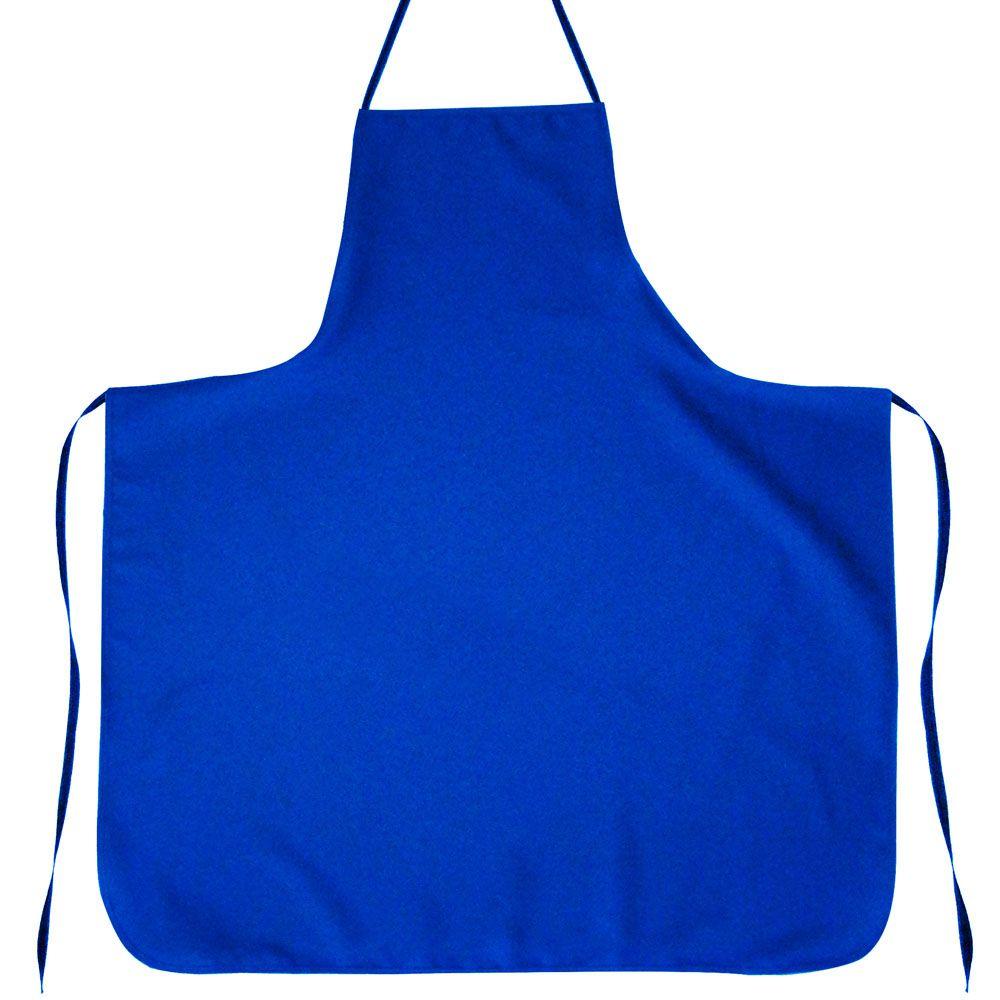 Avental Liso Oxford Azul - Tamanho Grande  - RECANTO DA COSTURA
