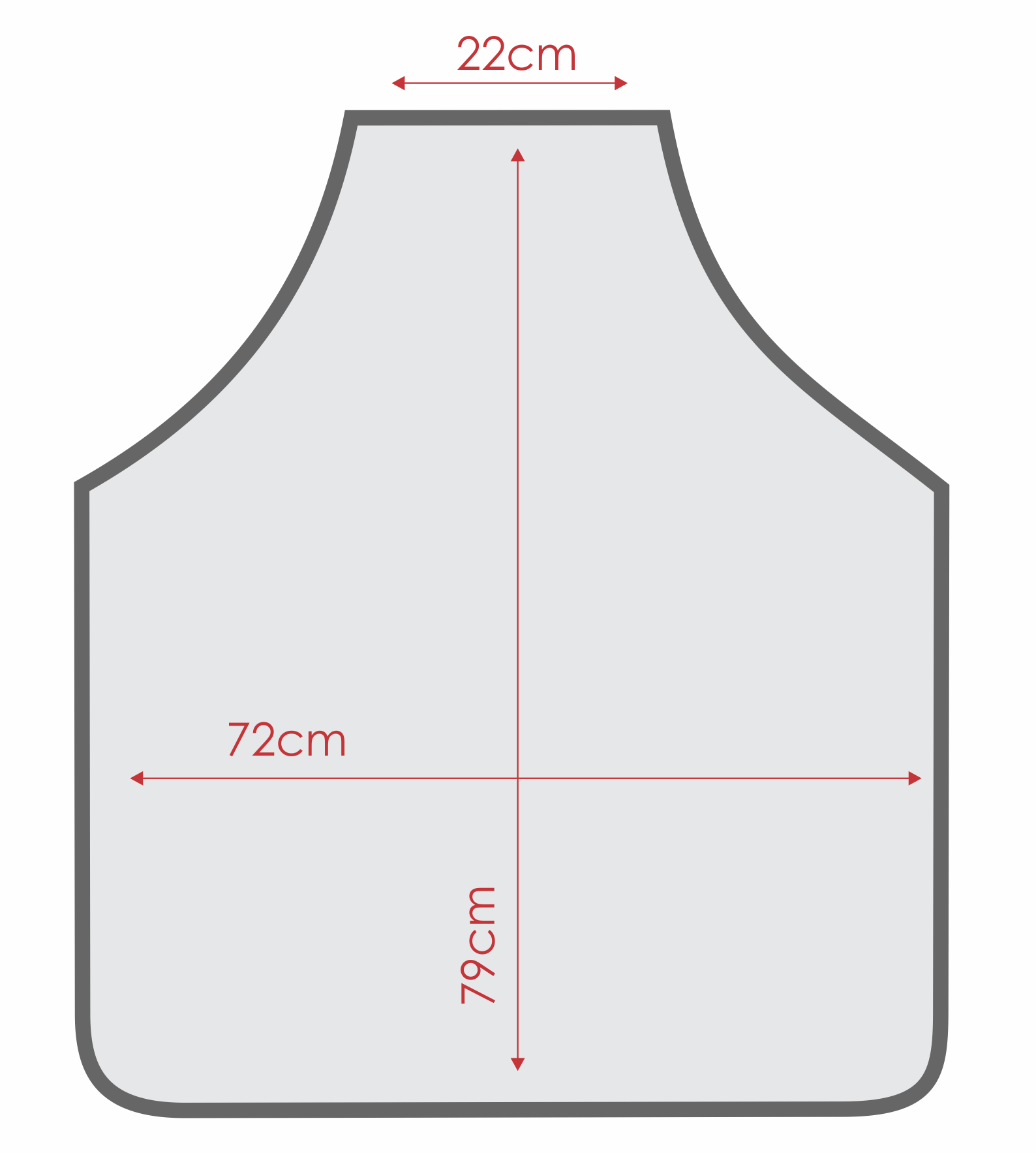 Avental Liso Oxford Branco - Tamanho Grande  - RECANTO DA COSTURA