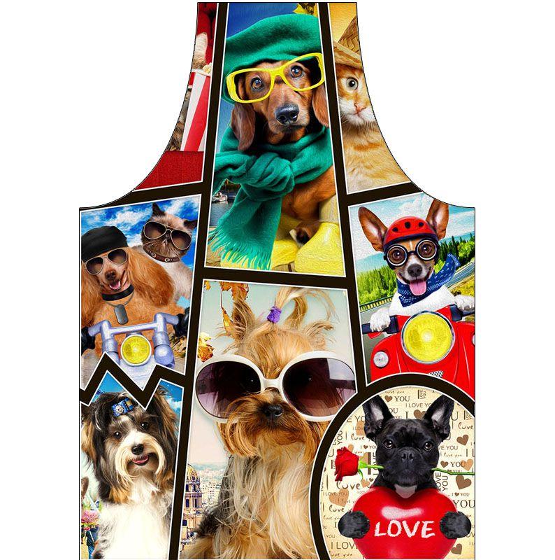 Avental Para Petshop Impermeável Dog de óculos  - RECANTO DA COSTURA